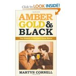Amber gold and black